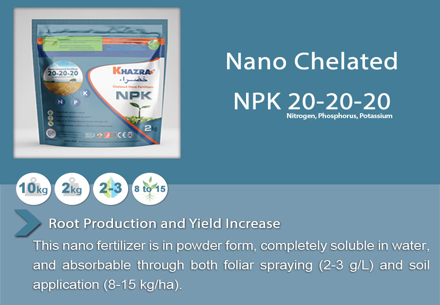 Khazra Nano Chelated NPK (20-20-20) Fertilizer