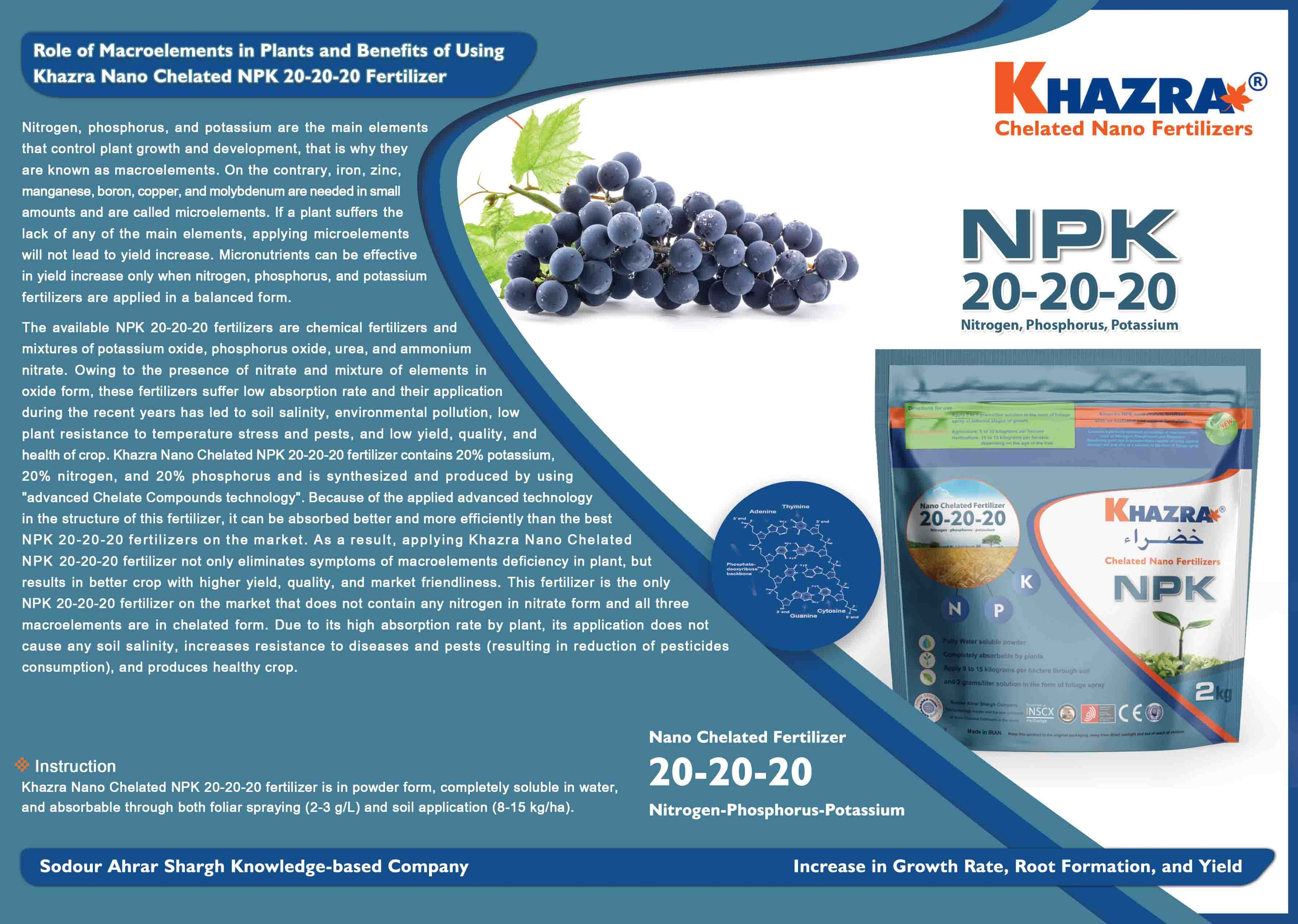 Nano Chelated NPK (12-12-36 / Powder) - Agri Fertilizer